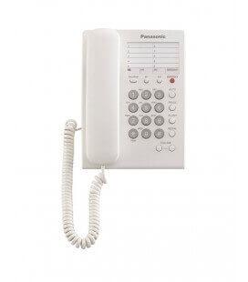 Τηλεφωνική Συσκευή Ξενοδοχειακού Τύπου Panasonic KX-TS550GRW Λευκό με Emergency Button