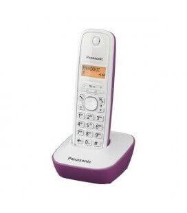 Ασύρματο Ψηφιακό Τηλέφωνο Panasonic KX-TG1611 Λευκό-Μώβ