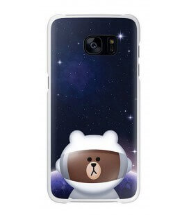 "Θήκη Faceplate Samsung S7 Line Friends Cover ""Mr. Brown"" EF-XG930LDEGWW για SM-G930F Galaxy S7 Μαύρη"