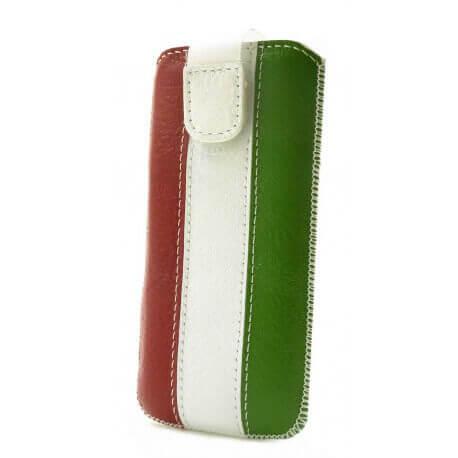 Θήκη Protect Ancus Italy Flag για Apple iPhone 5 Δέρμα Λευκή