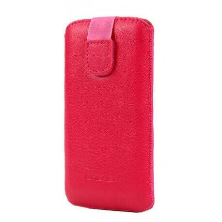 Θήκη Protect Ancus για Samsung i9505/i9500 Galaxy S4 Δέρμα Ρόζ