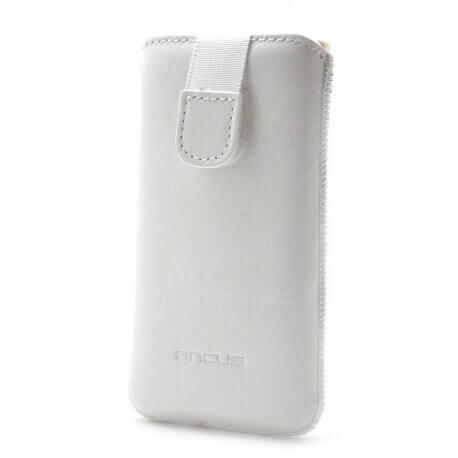 Θήκη Protect Ancus για Samsung i8190 Galaxy S3 Mini ( S III Mini ) Δέρμα Λευκή