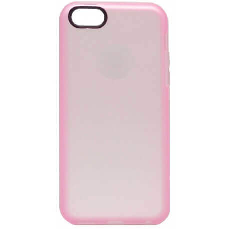 Θήκη TPU Ancus για Apple iPhone 5C Ρόζ με Λευκό Περίγραμμα