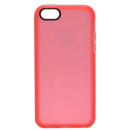Θήκη TPU Ancus για Apple iPhone 5C Κόκκινη με Λευκό Περίγραμμα