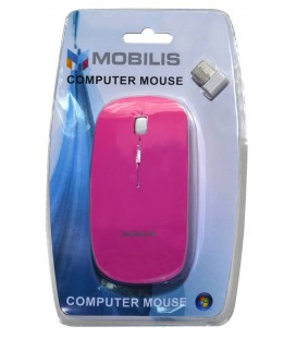 Ασύρματο Ποντίκι Mobilis MM-131 4 Πλήκτρων 1600 DPI Ρόζ (112*57*35mm)