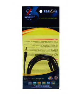 Καλώδιο σύνδεσης Ήχου 3,5mm σε 3,5mm για Ενισχυτές, DVD, MP3, MP4, CD Player, Κινητά Τηλέφωνα και Συσκευές Ήχου 1.5m