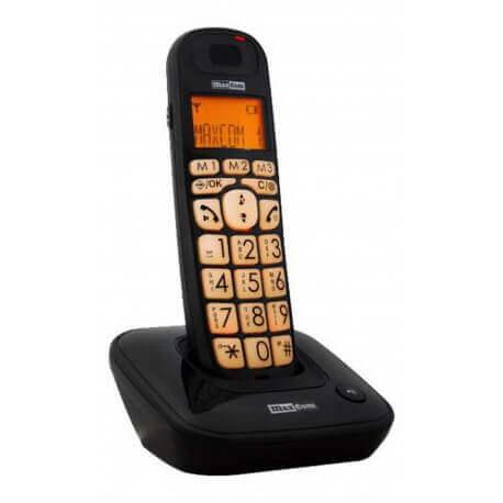 Ασύρματο Ψηφιακό Τηλέφωνο Maxcom MC6800 Μαύρο