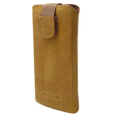 Θήκη Protect Ancus για Apple iPhone 5/5S/5C Δέρμα Κίτρινη