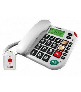 Σταθερό Ψηφιακό Τηλέφωνο Maxcom KXT481 SOS Λευκό με Οθόνη, Ένδειξη Εισερχόμενης Κλήσης Led και Μεγάλα Πλήκτρα