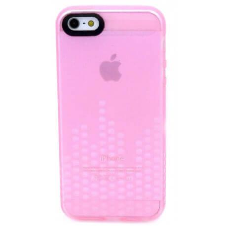 Θήκη Σιλικόνης Ancus για Apple iPhone 5/5S Glow Ρόζ