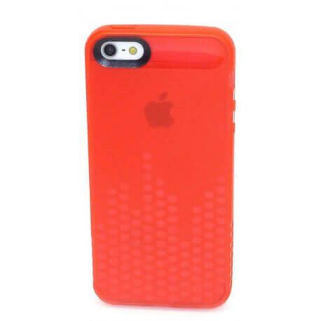 Θήκη Σιλικόνης Ancus για Apple iPhone 5/5S Glow Κόκκινη
