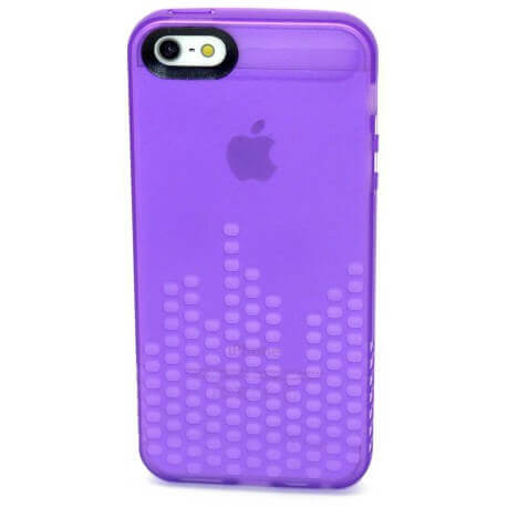 Θήκη Σιλικόνης Ancus για Apple iPhone 5/5S Glow Μώβ