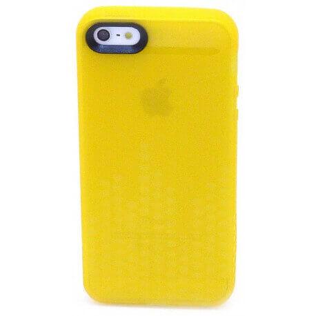 Θήκη Σιλικόνης Ancus για Apple iPhone 5/5S Glow Κίτρινη