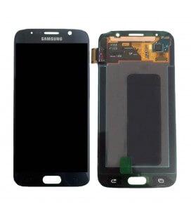 Γνήσια Οθόνη & Μηχανισμός Αφής Samsung SM-G920F Galaxy S6 με Κόλλα Μαύρο GH97-17260A