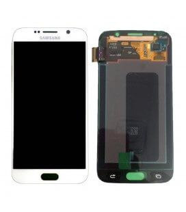 Γνήσια Οθόνη & Μηχανισμός Αφής Samsung SM-G920F Galaxy S6 με Κόλλα Λευκό GH97-17260B