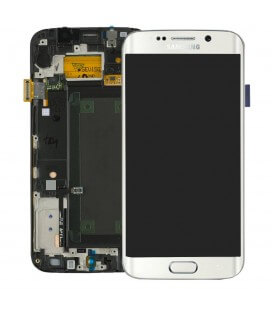 Γνήσια Οθόνη & Μηχανισμός Αφής Samsung SM-G925F Galaxy S6 Edge Λευκό GH97-17162B