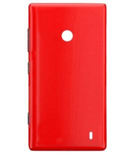 Καπάκι Μπαταρίας Nokia Lumia 520/525  Κόκκινο OEM Type A με Εξωτερικά Πλαϊνά Πλήκτρα