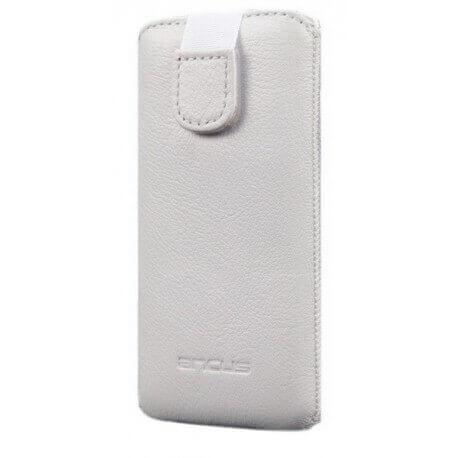 Θήκη Protect Ancus για Galaxy S4/S5/ iPhone 6/6S Δέρμα Λευκή