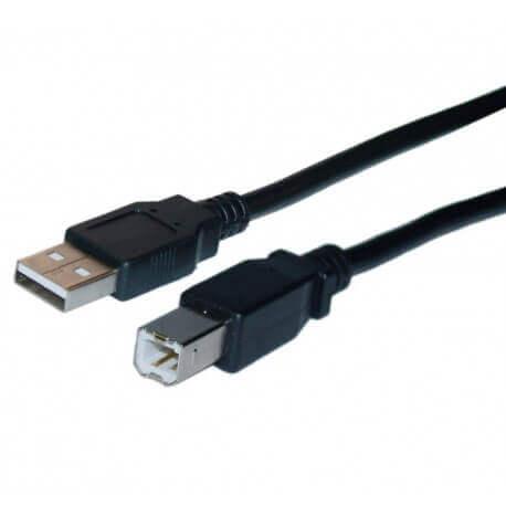 Καλώδιο Σύνδεσης Jasper USB A Αρσενικό σε B Αρσενικό 5m Μαύρο