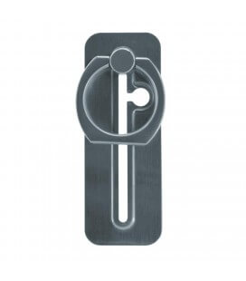 Βάση Στήριξης Δαχτυλίδι Slide Type για Κινητά Τηλέφωνα Ασημί