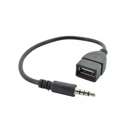 Καλώδιο σύνδεσης Ήχου 3.5mm Male σε USB Female για Audio-in, MP3, MP4, CD Player, Κινητά Τηλέφωνα και Συσκευές Ήχου 22cm