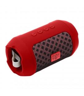 Φορητό Ηχείο Bluetooth Maxton Masaya MX116 3W Red με Ανοιχτή Ακρόαση, Audio-in, MicroSD και FM Radio