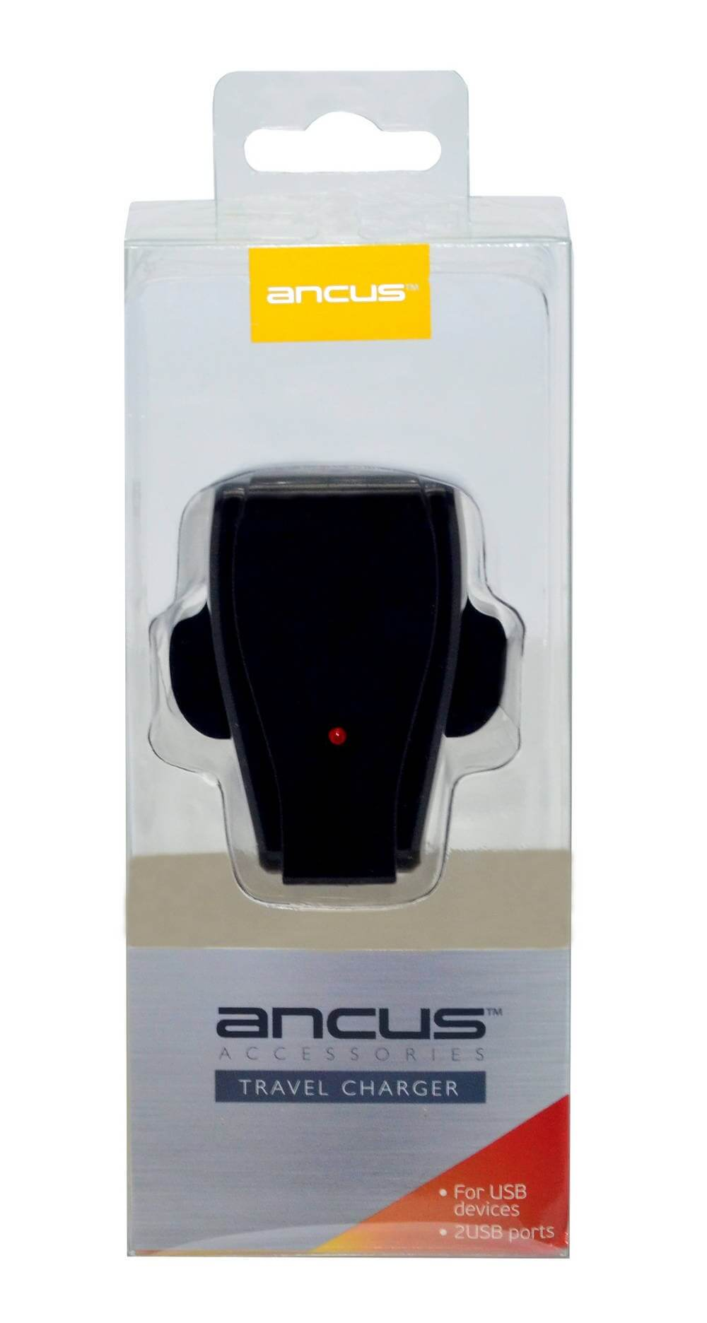 Ancus Dual Usb 5v 1000 Mah Motorola Xt 321 Defy Mini Black Slate 3 Pin