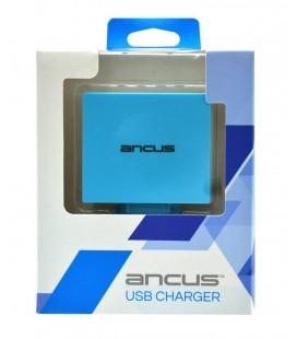 Φορτιστής Ταξιδίου Ancus Multi Charger 4 Usb 4.2A Λευκό - Μπλέ