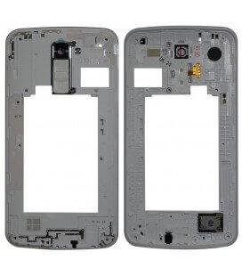 Μεσαίο Πλαίσιο LG K10 K420N με Buzzer, Κεραία και Τζαμάκι Κάμερας Λευκό Original ACQ88957001